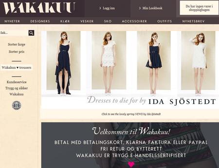 wakakuu nettbutikk designer klær merkevarer